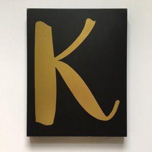 "Letter ""K"" Wall Art 11""W x 14""H x 1.5""D"